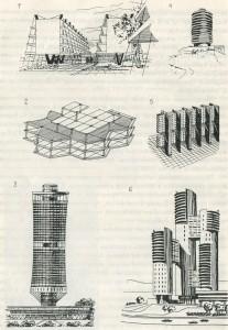 Поиски новых форм и новых конструктивных систем в современной советской архитектуре