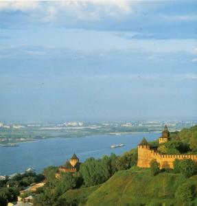 Нижегородский кремль с высоты птичьего полёта