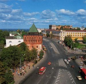 Вид на Нажегородский кремль
