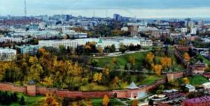 Панорама верхней части Нижнего Новгорода
