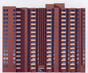 high-rise block