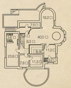 План цокольного этажа деревянного дома