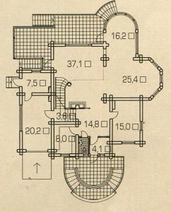 План 1 этажа деревянного дома