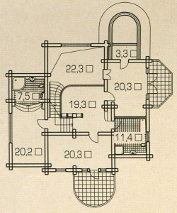 План 2 этажа деревянного дома