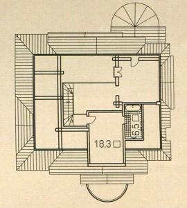 План 3 этажа деревянного дома