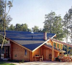 сауна со скатной крышей