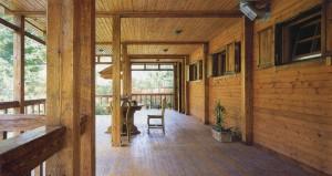 деревянная веранда