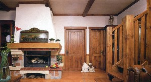 Массивные деревянные элементы интерьера