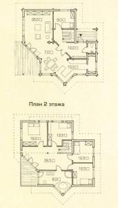 Поэтажный план деревянного дома