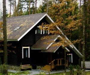 Дом оцилиндрованного бруса