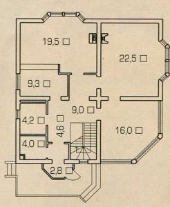 План 1 этажа дома с душой