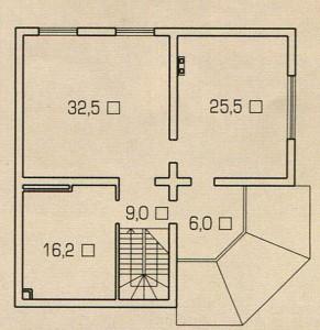 План 2 этажа дома с душой