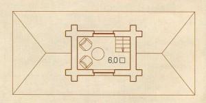 План второго этажа русского деревянного дома