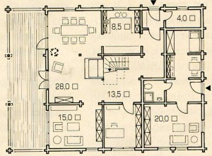 План 1 этажа дома ноу хау