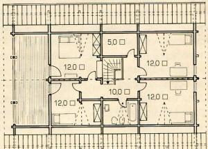 План 2 этажа деревянного дома с ноу-хау