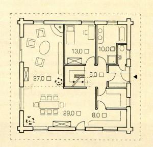 Площадь 1 этажа
