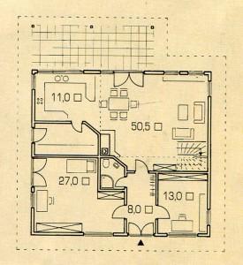 Площадь 1 этажа дома в лесу