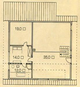 Площадь 2 этажа дома в лесу