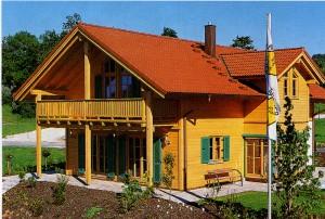 вид дома в деревенском стиле