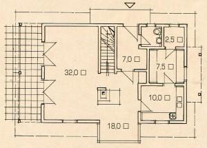 План 1 этажа современного деревенского дома