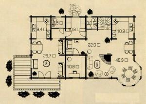 План 1 этажа Большого дома