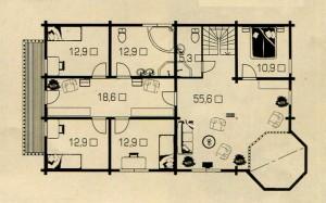 План 2 этажа большого дома