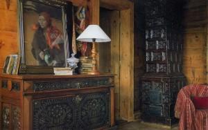 самый необычный интерьер деревянного дома