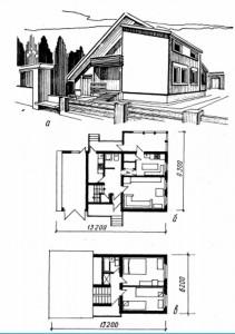 Мансардный  жилой дом