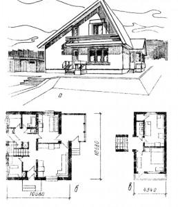 четырёхкомнатный жилой дом