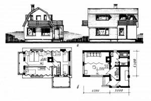Четырёхкомнатный дачный дом