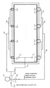 Принципиальная схема водоподготовки для бассейна со скиммерами