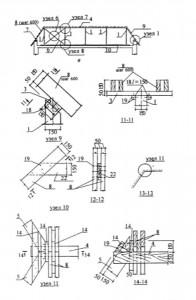 Устройство стропильных конструкций крыши для варианта устройства мансардных помещений в объёме чердак