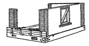 Устройство бетонных стен с кирпичными столбами
