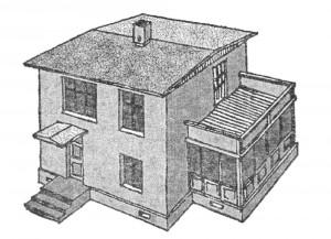 Плоские кровли на малоэтажных зданиях: общий вид дома с плоской крышей