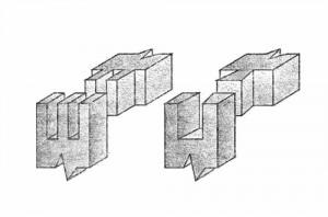 """слева - двойной шип (наиболее прочный); справа - """"ласточкин хвост"""""""