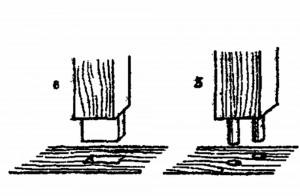 Столярные соединения: 5 - стык на шкантах; 6 - потайной шип