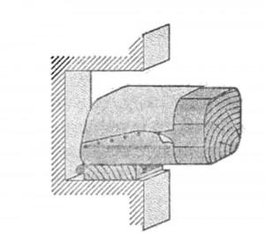 Разрез по гнезду балки междуэтажного перекрытия