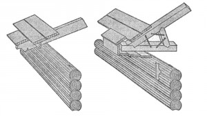 Устройство деревянных карнизов по выпущенным стропилам и, на шпалах