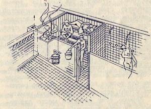 Финская баня «Сауна» с помещениями для переодевания и мытья