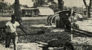 Поезд и лазательная система. Детский лагерь. Конго (Браззавиль).