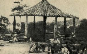 Теневая тростниковая беседка. Детский лагерь, Конго (Браззавиль).