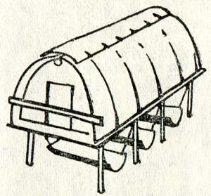 скамьи-качалки под домиком