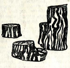 использование стволов деревьев