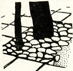 Дорожки, мощенные плитами камня