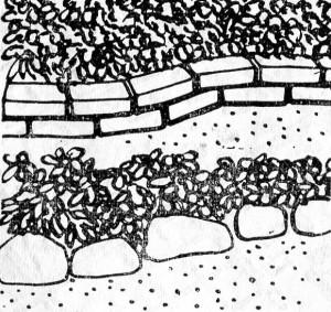 ограждение газонов из бетона