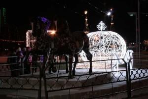 Карета Золушки. Фигуры украшающие новогоднее празднество.