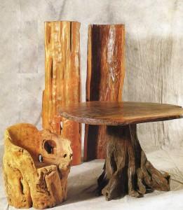 мебель из корней