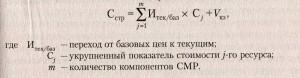 Стоимость строительства - формула