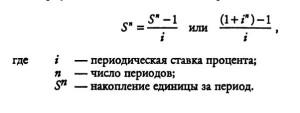 Формула накопления