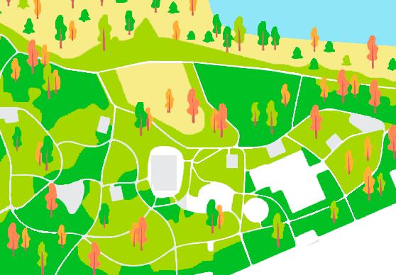Северная часть ланшавтоного парка Остров мечты